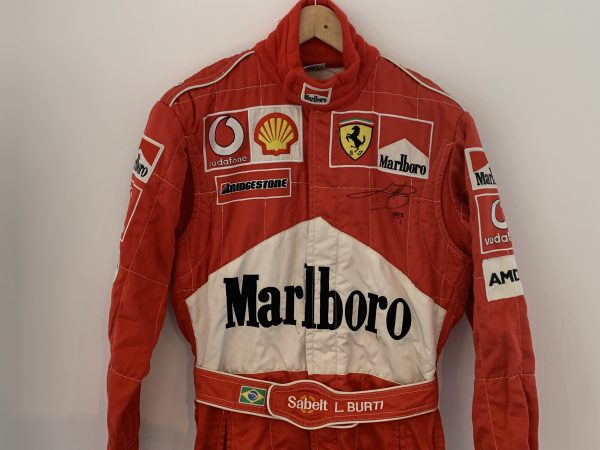 Ferrari Team Race Suit Signed by Luciano Burti - Motorsport Memorabilia