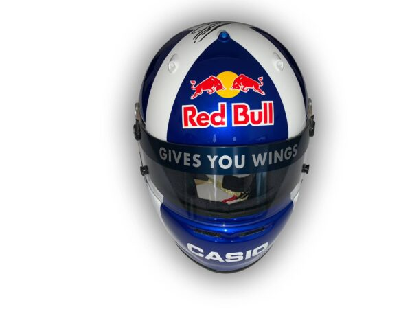 David Coulthard 2008 Arai helmet painted by Marty designs of Switzerland for David Coulthard as given to personal sponsors during his last F1 season with Red Bull.