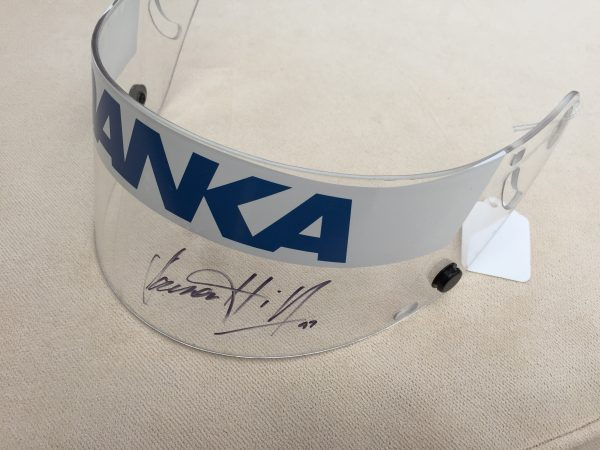 Damon Hill 1997 signed visor