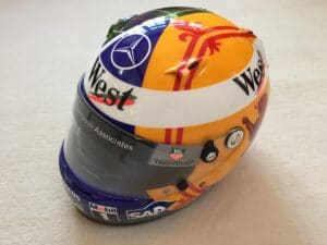 David Coulthard West McLaren 2004 special competition helmet