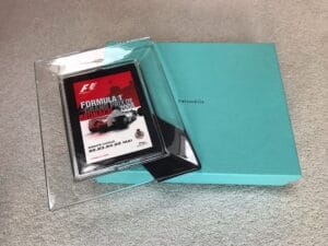 Monaco 2008 a genuine boxed Tiffany 'Hall of Fame' Lead Crystal photo frame