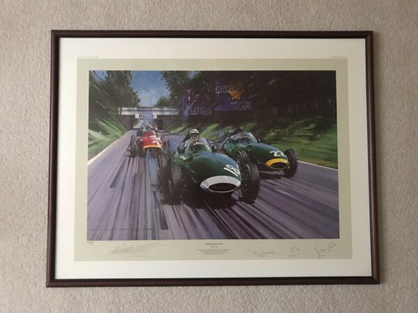 Stirling moss limited edition print